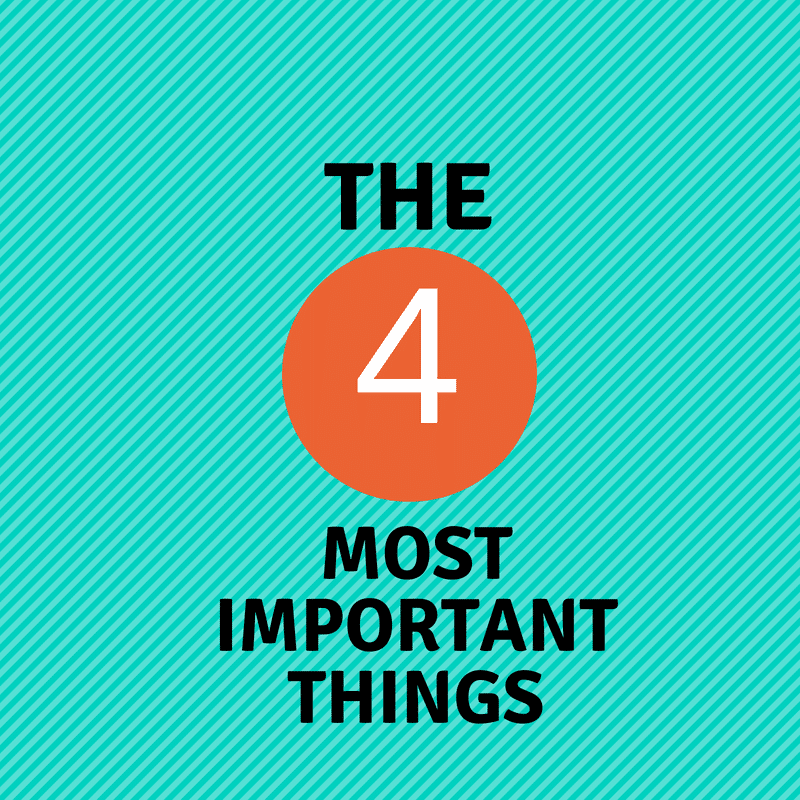THE FOUR MOST IMPORTANT THINGS YOU CAN DO TO HAVE A SUCCESSFUL SCHOOL YEAR